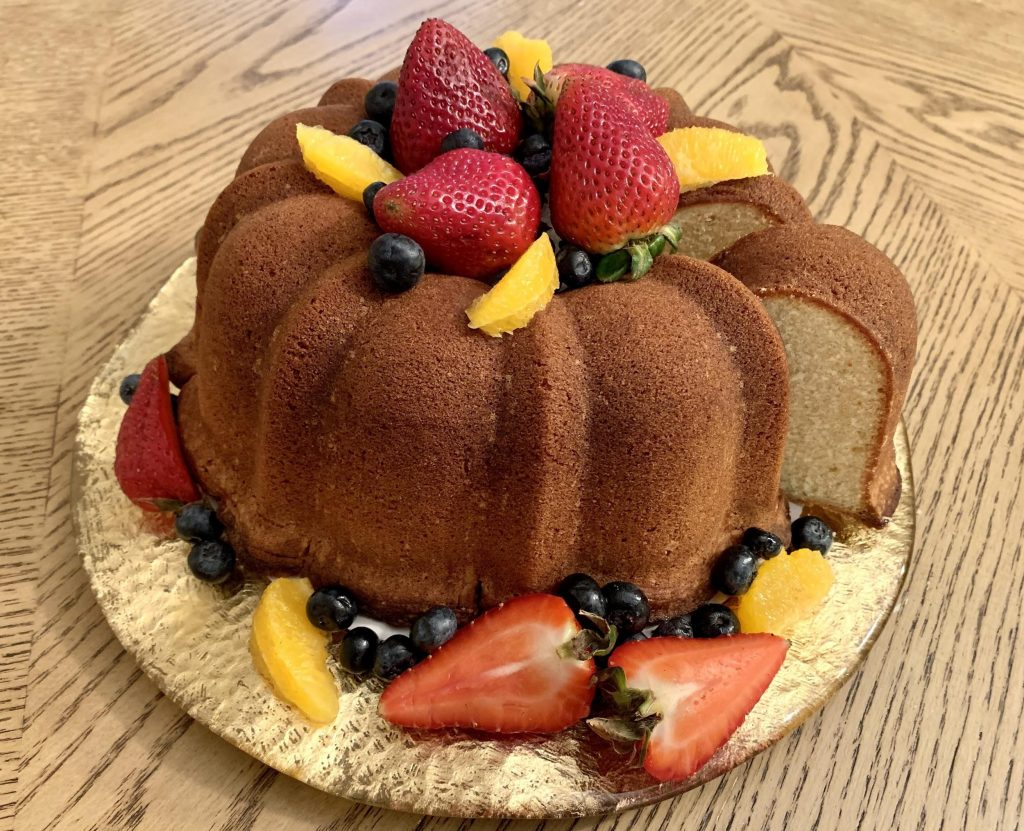 cake with fruit from Kelly Girl